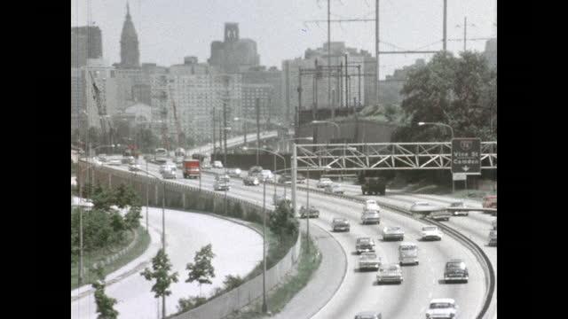 1960's - philadelphia sites - benjamin franklin stock videos & royalty-free footage