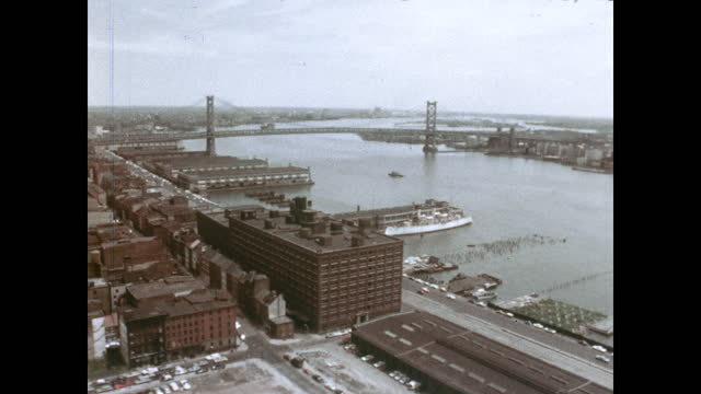 """1960's - port of philadelphia - """"archive farms"""" stock videos & royalty-free footage"""
