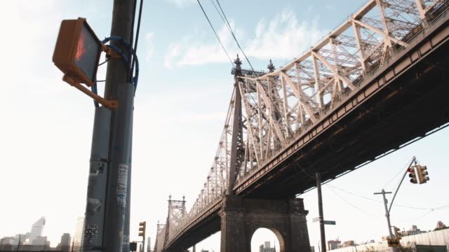 NYC's Queensboro Bridge on a warm summer day - 4k