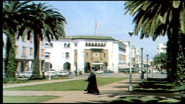1960's rabat boulevards and streets - rabat morocco stock videos & royalty-free footage
