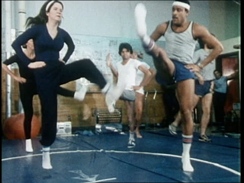 1980's  recreational activities on military base - aerobics stock videos & royalty-free footage