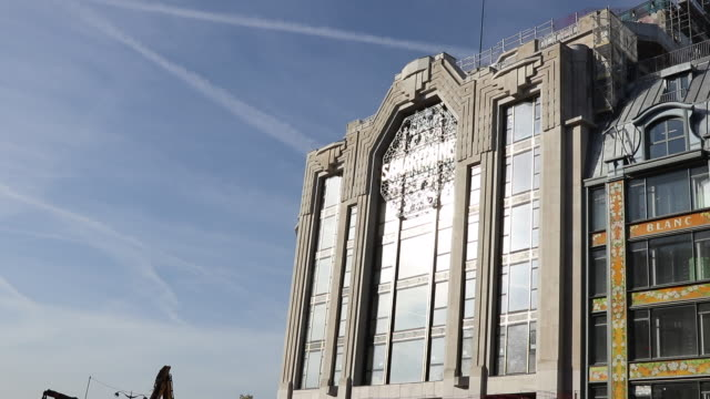lvmh's renovated samaritaine department store. east facade - facade stock videos & royalty-free footage