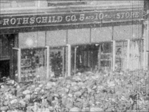1900's sale at the five and dime, nyc - window display stock videos and b-roll footage