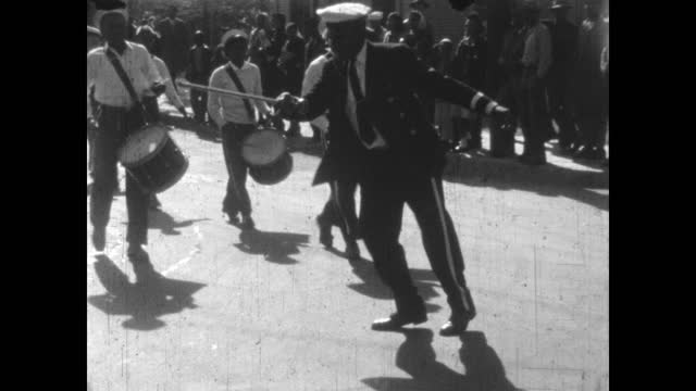 1940's - school marching band and parade, greenwood, tulsa, oklahoma, usa - african american culture stock videos & royalty-free footage
