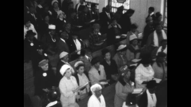1960's - service at first baptist church north tulsa, tulsa, oklahoma, usa - church stock videos & royalty-free footage