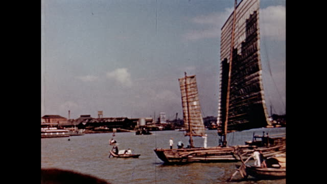 1930's Shanghai - the Bund and harbor