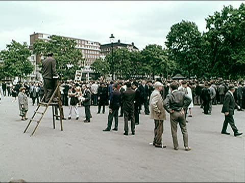 1960's speakers corner in hyde park - hyde park london stock videos & royalty-free footage