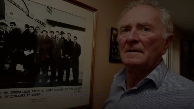 bbc ni's stephen watson reads a eulogy at the funeral of manchester united hero harry gregg at st patrick's parish church in coleraine co londonderry... - eulogy stock videos & royalty-free footage