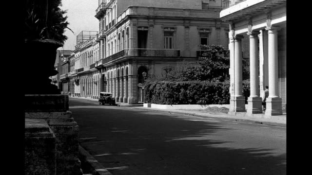 1930's - street corning in havana - havana stock videos & royalty-free footage