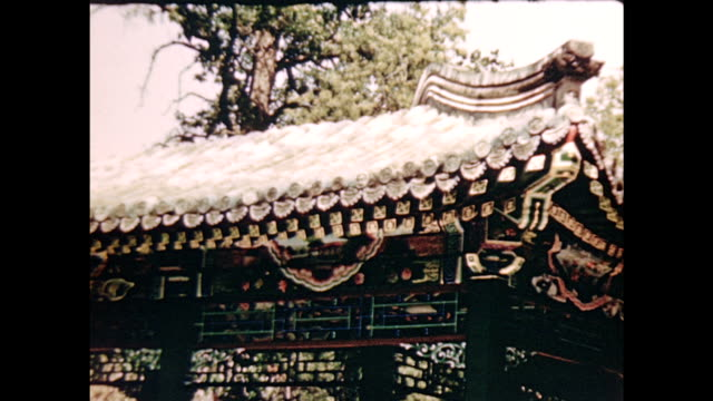 1930's summer palace and white pagoda - summer palace beijing stock videos & royalty-free footage