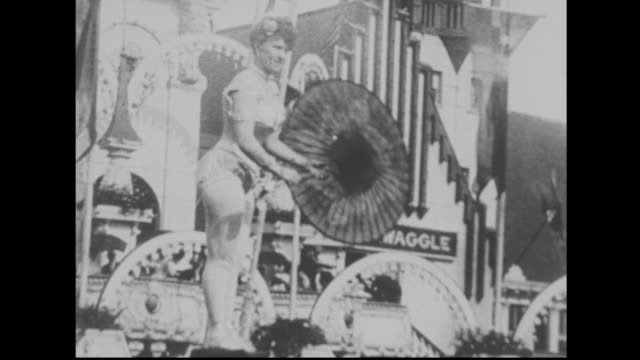 1900's tightrope walker at luna park in coney island - coney island stock-videos und b-roll-filmmaterial