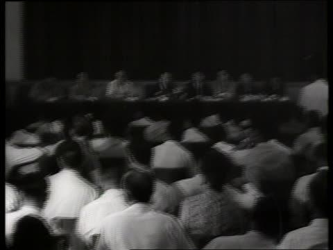 B/W 1960's Vietnamese political leaders press conference / Vietnam / SOUND