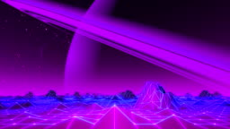 80's VJ Landscape Day and Night Series