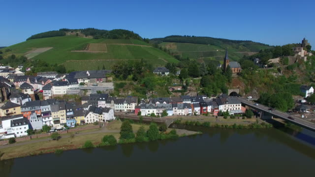 saarburg, saar valley, old town, saar river, district trier-saarburg, rhineland-palatinate, germany - saarburg stock-videos und b-roll-filmmaterial
