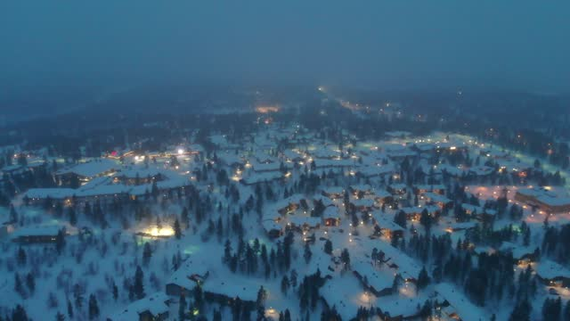 saariselkaa at night, lapland, finland - finland stock videos & royalty-free footage