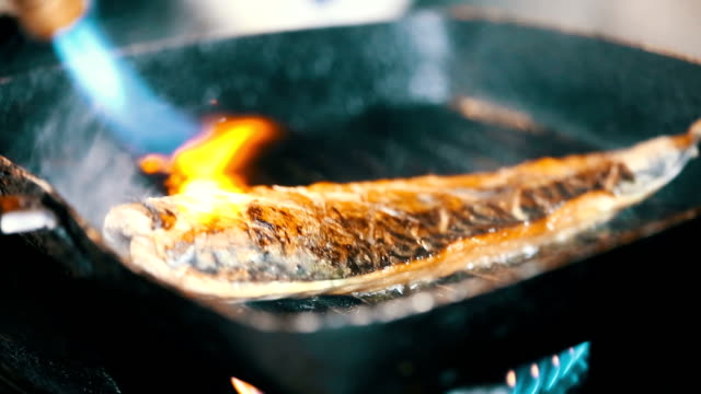 Saba shoyu yaki ,burn and Grilled Mackerel in japanese food