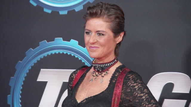 sabine schmitz at top gear series 28 london premiere at odeon luxe leicester square on january 20 2020 in london england - reality tv stock videos & royalty-free footage