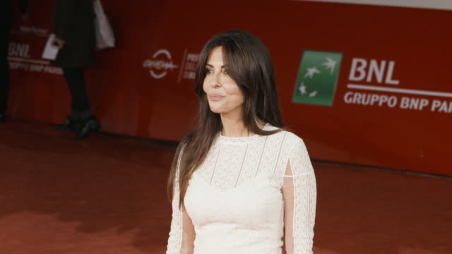 sabrina ferilli at the place red carpet 12th rome film fest on november 04 2017 in rome italy - rome film fest stock videos and b-roll footage