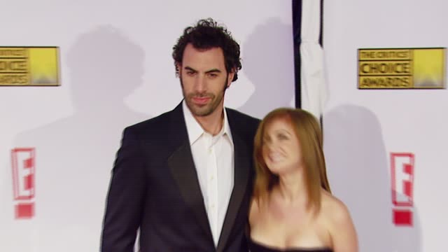 Sacha Baron Cohen and Isla Fisher at the Broadcast Film Critics Association's 2007 Critic's Choice Awards at Santa Monica Civic Auditorium in Santa...