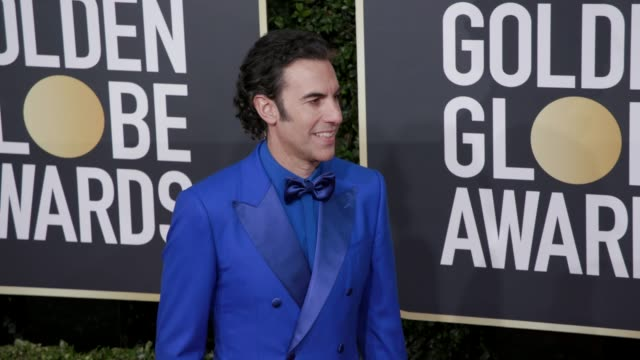 sacha baron cohen at 77th annual golden globe awards at the beverly hilton hotel on january 05, 2020 in beverly hills, california. - sacha baron cohen stock-videos und b-roll-filmmaterial