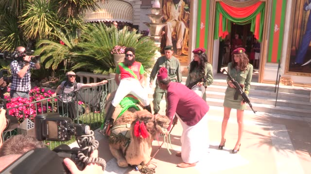 sacha baron cohen at the dictator press stunt: 65th cannes film festival on may 16, 2012 in cannes, france - sacha baron cohen stock-videos und b-roll-filmmaterial