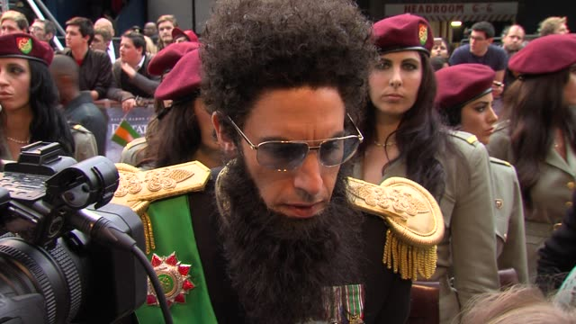 sacha baron cohen on getting herpes on a flight at the dictator: world premiere at the royal festival hall on may 10, 2012 in london, england - herpes video stock e b–roll