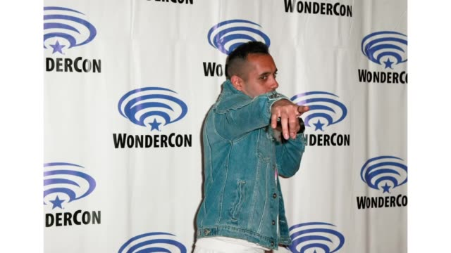 Sachin Sahel attends the 'The 100' press line during WonderCon 2019 at Anaheim Convention Center on March 31 2019 in Anaheim California