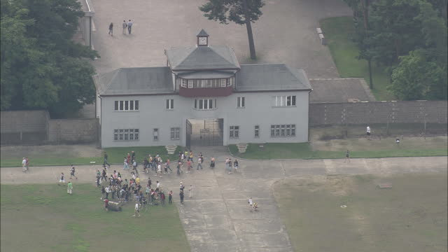 sachsenhausen concentration camp - third reich stock videos and b-roll footage
