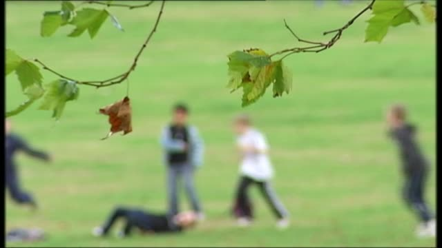 Sacked child mental health tsar issues report on prevalence of mental health issues in schools Location and date unknown Children playing football in...