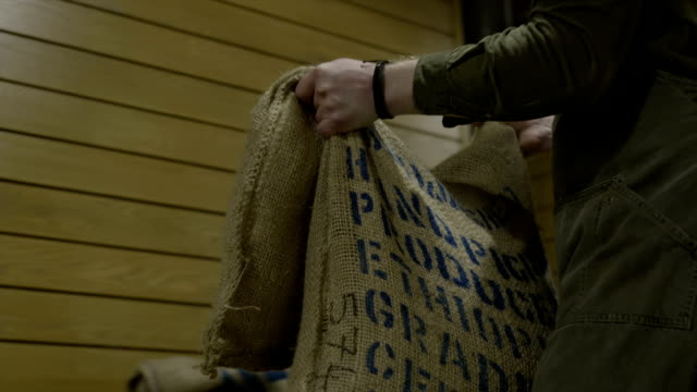sacks with coffee - sack stock videos & royalty-free footage