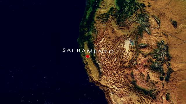 sacramento 4k zoom in - sacramento stock videos & royalty-free footage