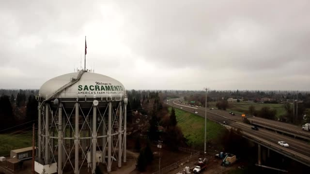 sacramento water tower california - capital letter stock videos & royalty-free footage