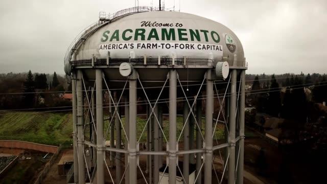 sacramento water tower california - sacramento stock videos & royalty-free footage