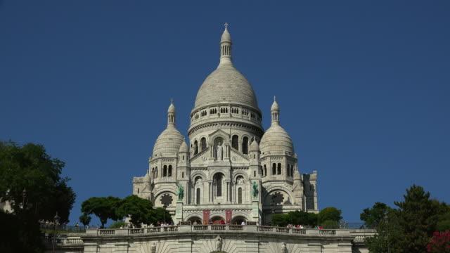 Sacre Coeur Basilica on Montmartre, Paris, France, Europe