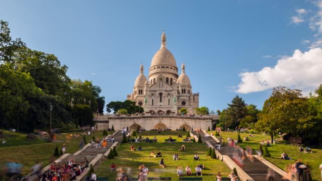 vídeos y material grabado en eventos de stock de sacre coeur basilica, tl, ws - basílica del sagrado corazón de montmartre