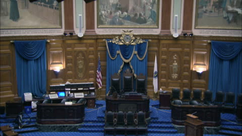 sacred cod hanging in the house of representatives chamber in the massachusetts state house - massachusetts stock videos & royalty-free footage
