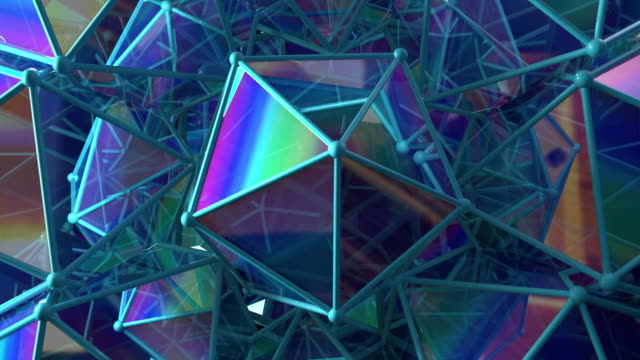 vídeos de stock e filmes b-roll de sacred geometry 1002: geometric platonic icosahedron objects rotate and reflect - proporção áurea