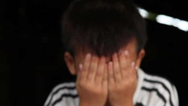 sad asian boy - loneliness stock videos and b-roll footage