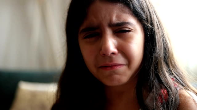 sad crying little girl - orphan stock videos & royalty-free footage