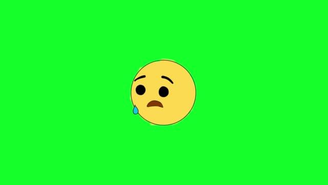 vídeos de stock, filmes e b-roll de triste vídeo de ações emoji - comédia de sketches