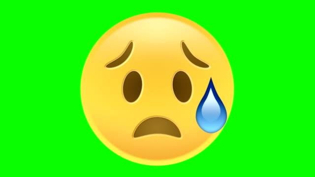 vídeos y material grabado en eventos de stock de sad emoji - emoción negativa