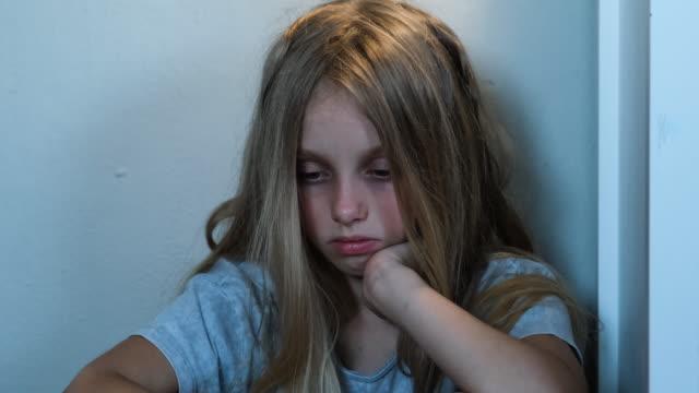 sad girl - bullying stock videos & royalty-free footage
