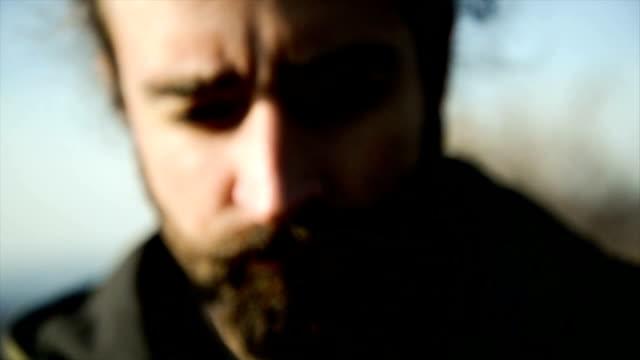 sad man. blur effects - despair stock videos & royalty-free footage