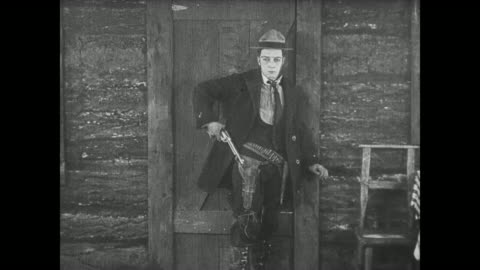 1922 sad man (buster keaton) turns angry and mistakenly shoots wrong cheating couple - infidelity stock videos & royalty-free footage