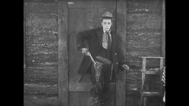 1922 Sad man (Buster Keaton) turns angry and mistakenly shoots wrong cheating couple