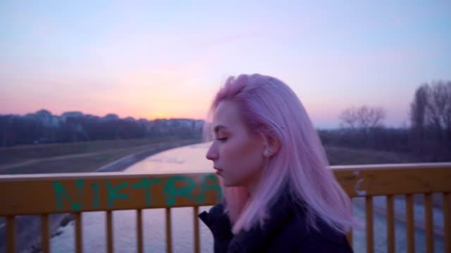 sad teen girl smoking cigarette - memories stock videos & royalty-free footage