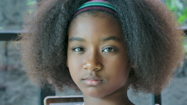 sad young african american woman - teenage girls stock videos & royalty-free footage