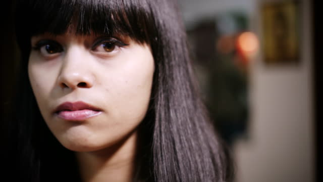 sad young woman thinking. - serious stock videos & royalty-free footage