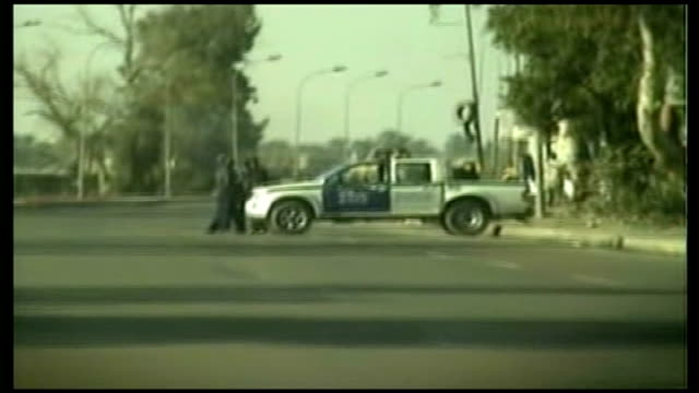saddam hussein executed tracking shots along deserted streets - execution stock videos & royalty-free footage