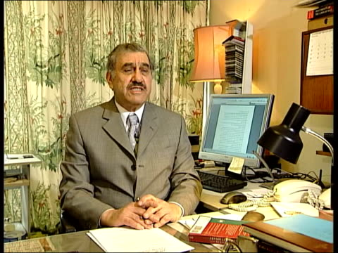 legal issues england london int sabah al mukhtar interview sot it is short trial because this is trial under occupation and under geneva convention... - legal occupation stock videos and b-roll footage